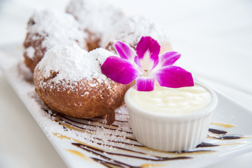 Beignets with Creme Anglaise (1)
